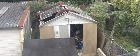 Garage Exterior Before